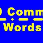 Morse Common Words